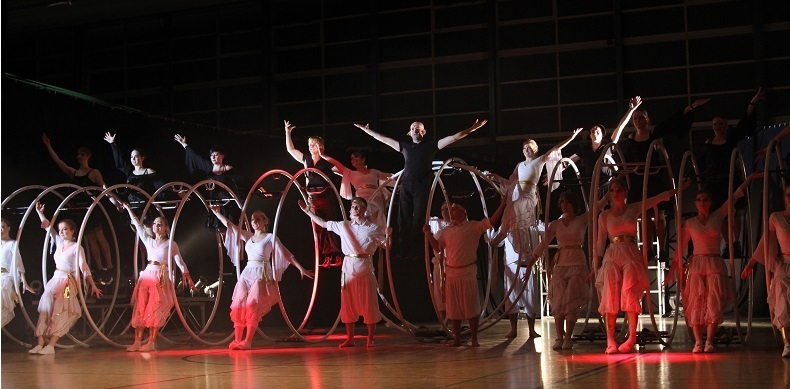 Cyr wheel performers