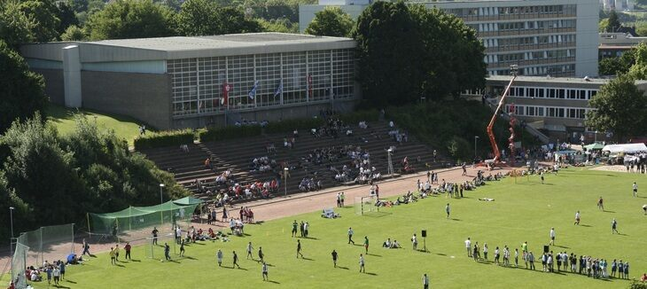 The Sports Day from above