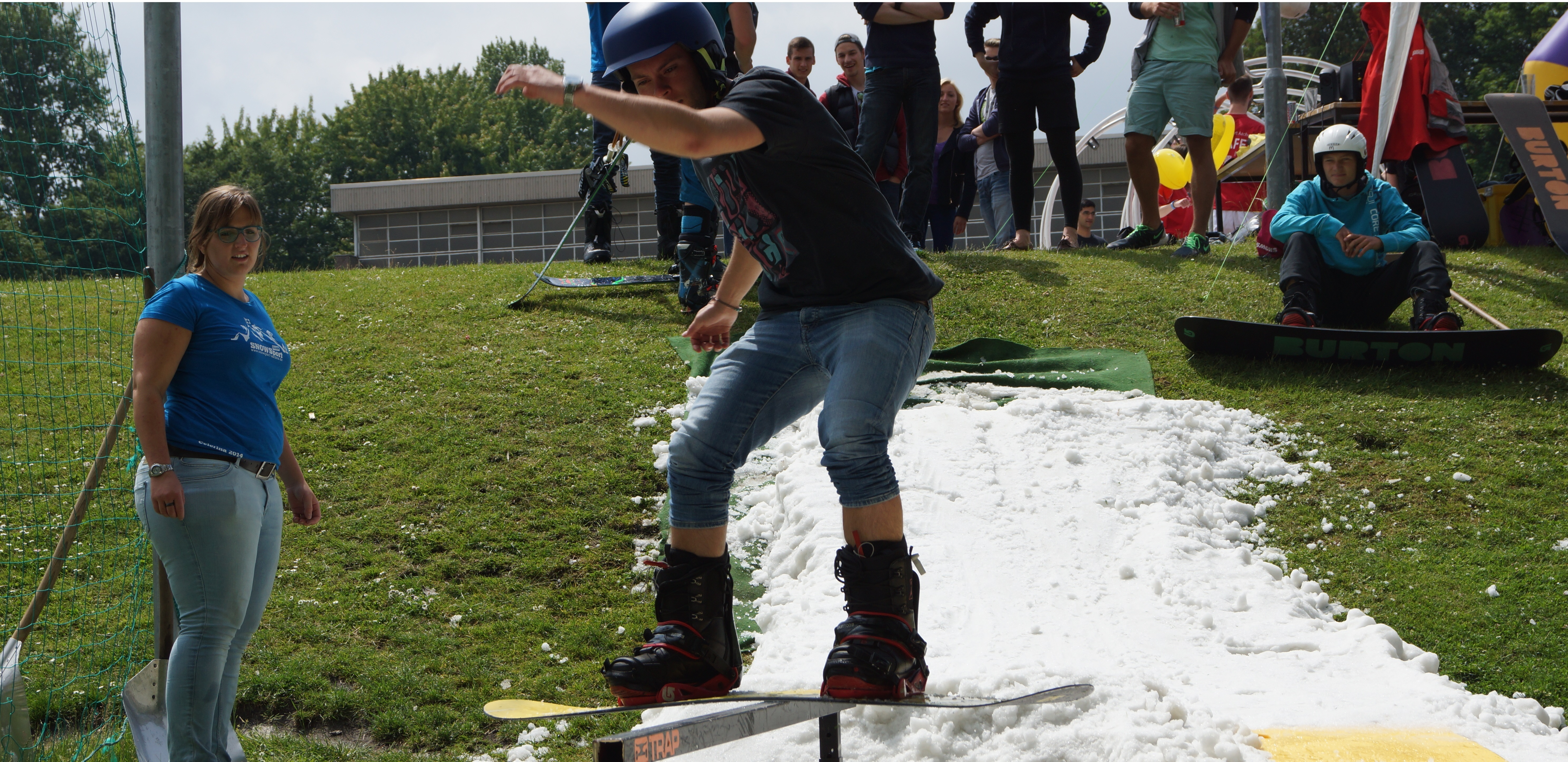 Snowboarder bei Sports Day