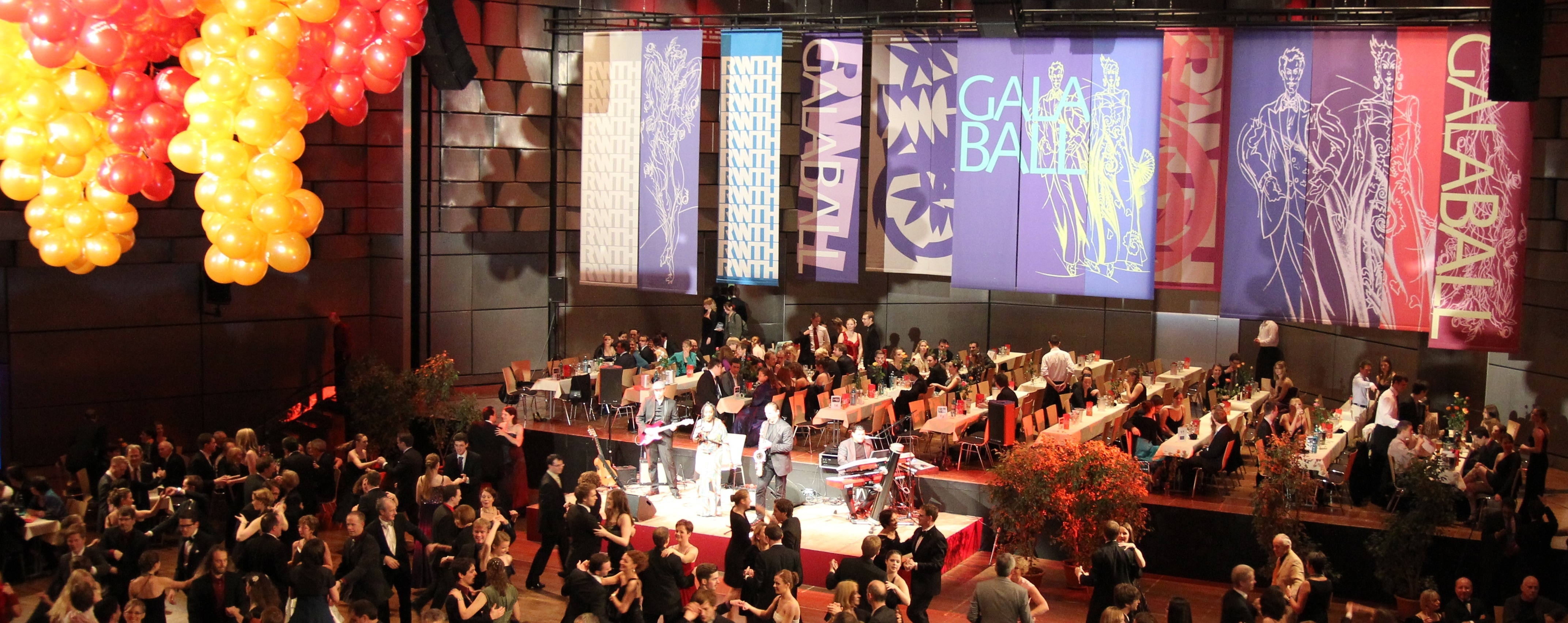 Stage and dance floor at the Gala Ball