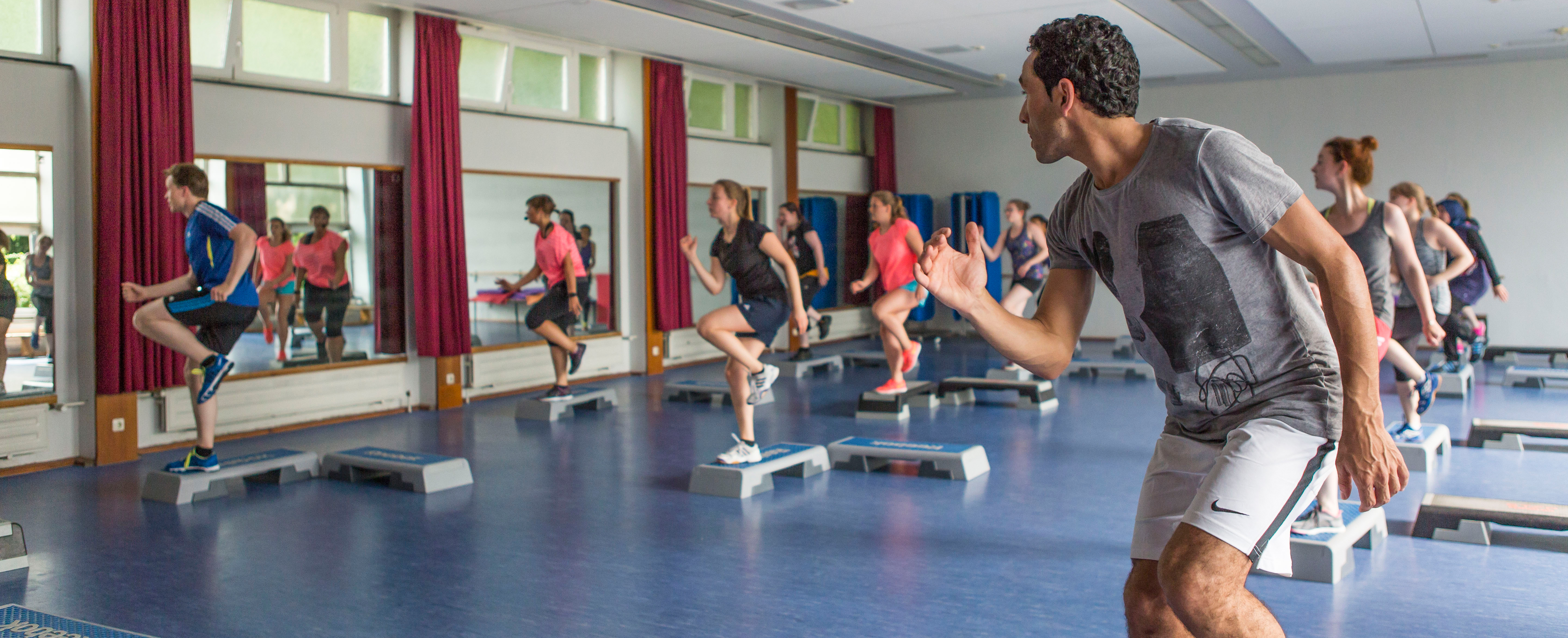 Participants in an aerobic course