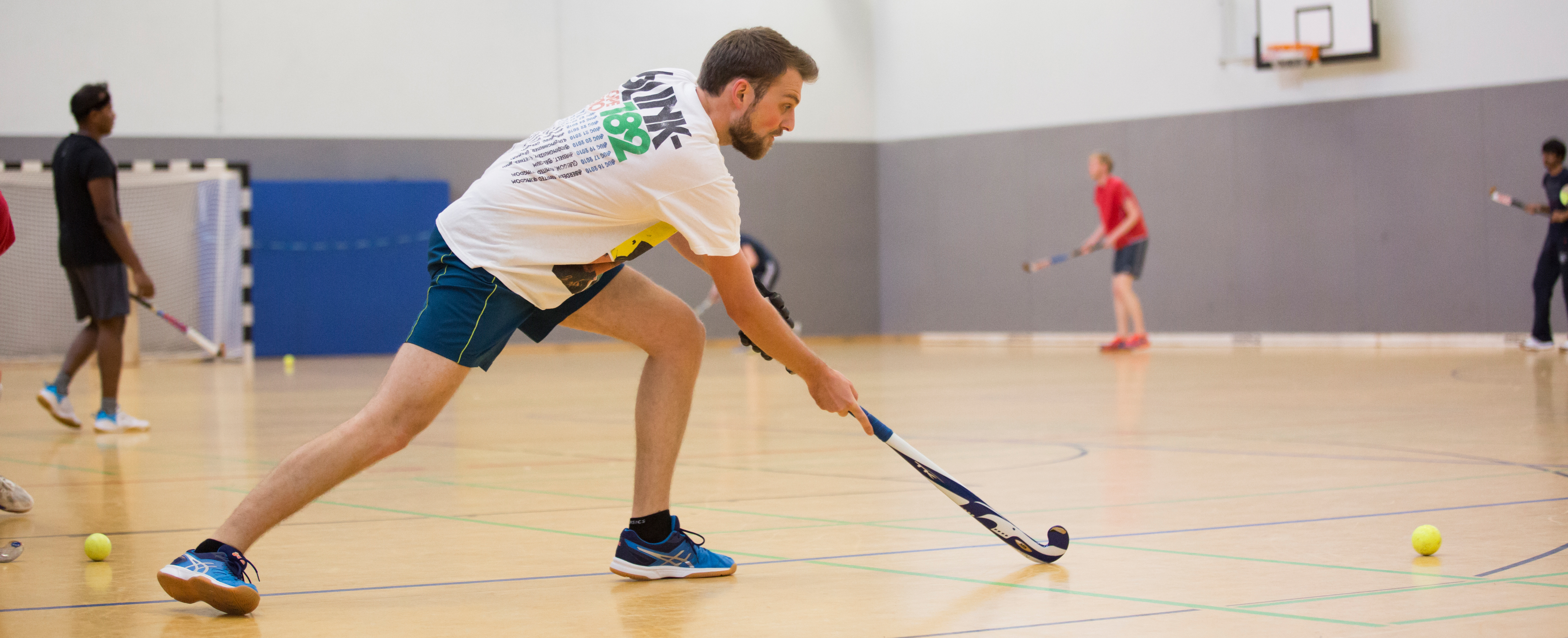 Indoor hockey player