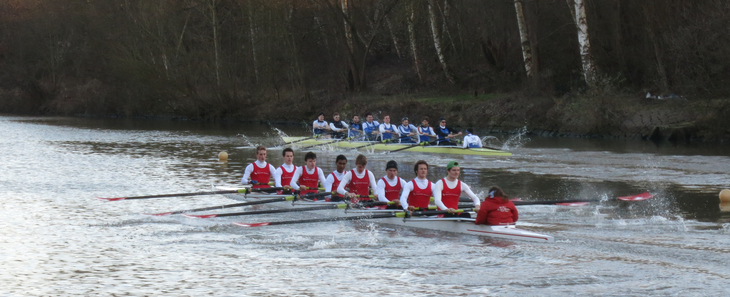 Two rowing eights