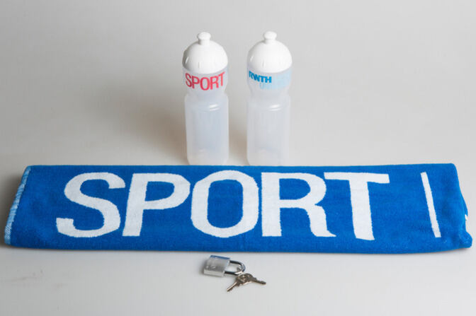 Handtowel with the word SPORT