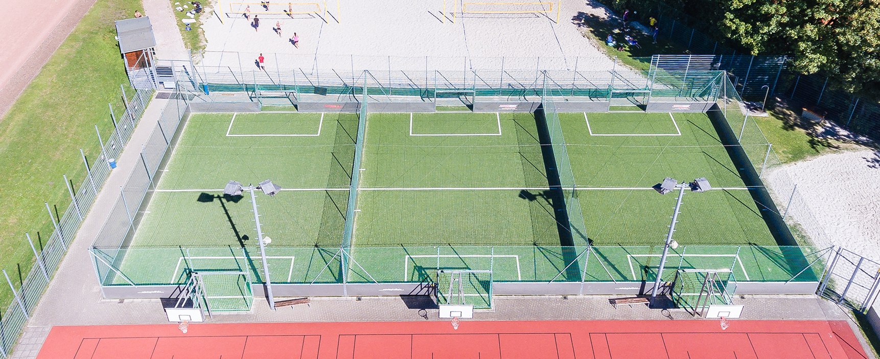 Aerial view of the SOCCERBOX