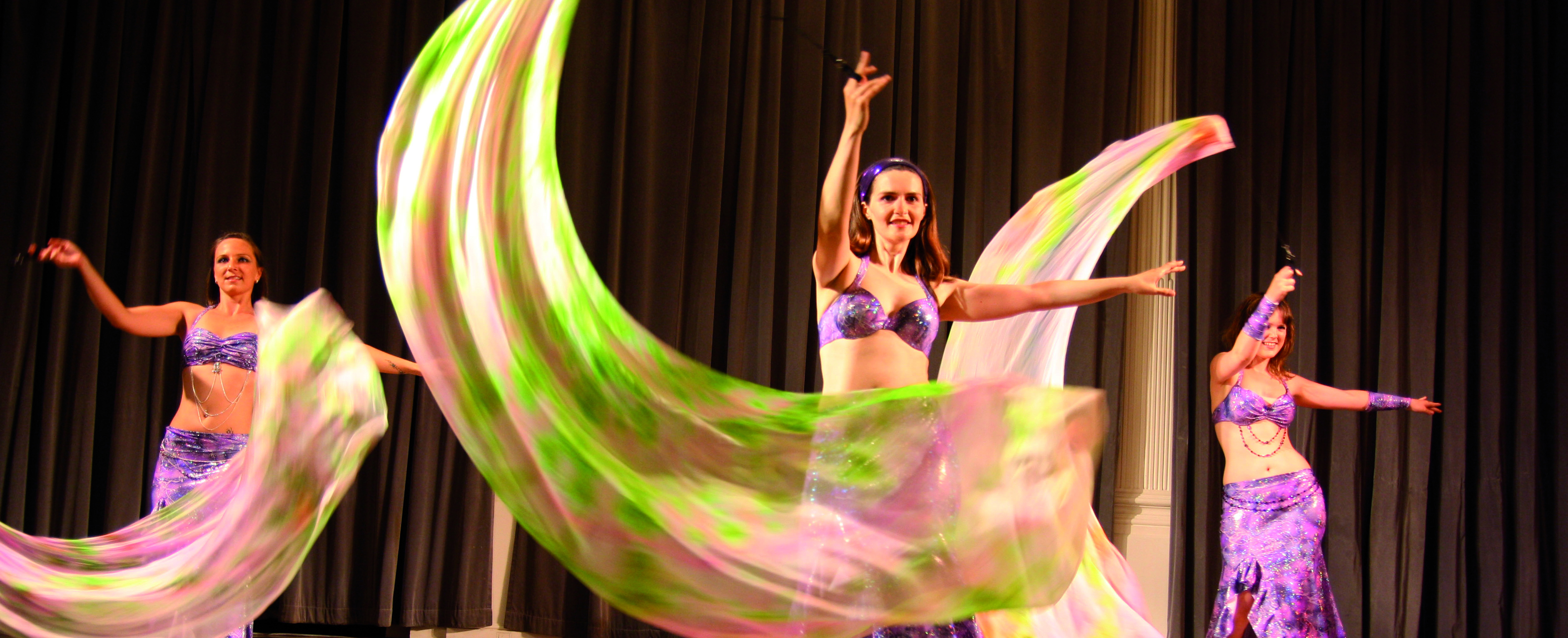 Belly dancers performing