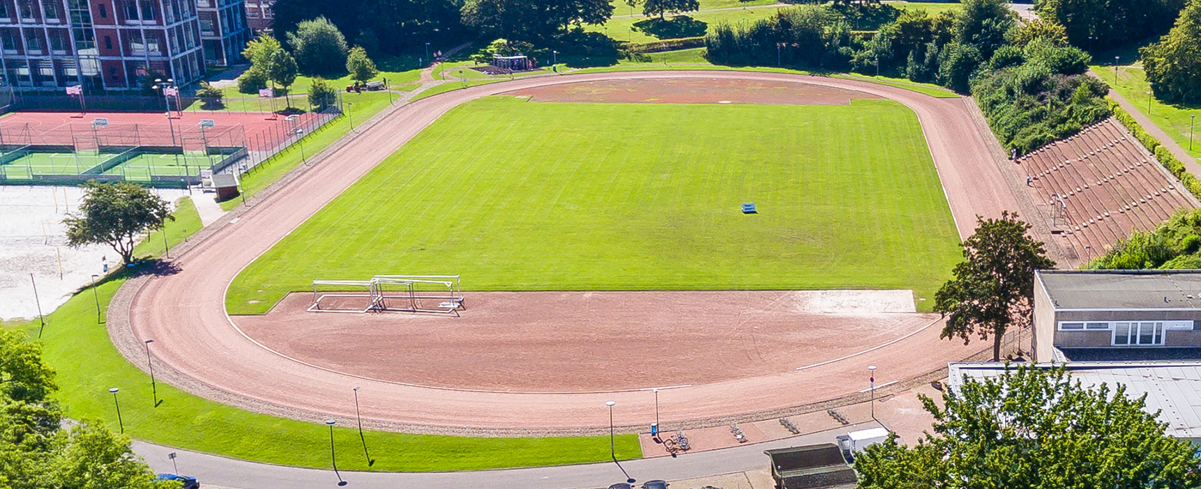 Aerial view of the 400 meter track