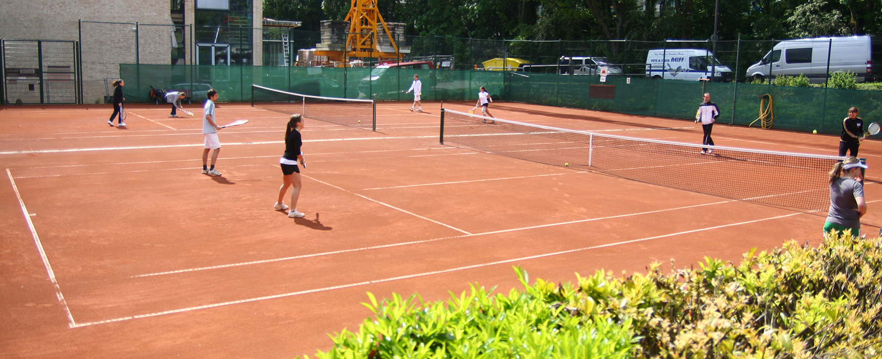 Tennis courts at Prof.-Pirlet-Straße