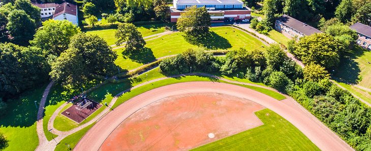 Aerial view of part of the Finnbahn Königshügel