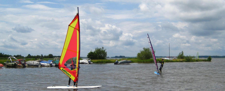 Windsurfers on Ijsselmeer