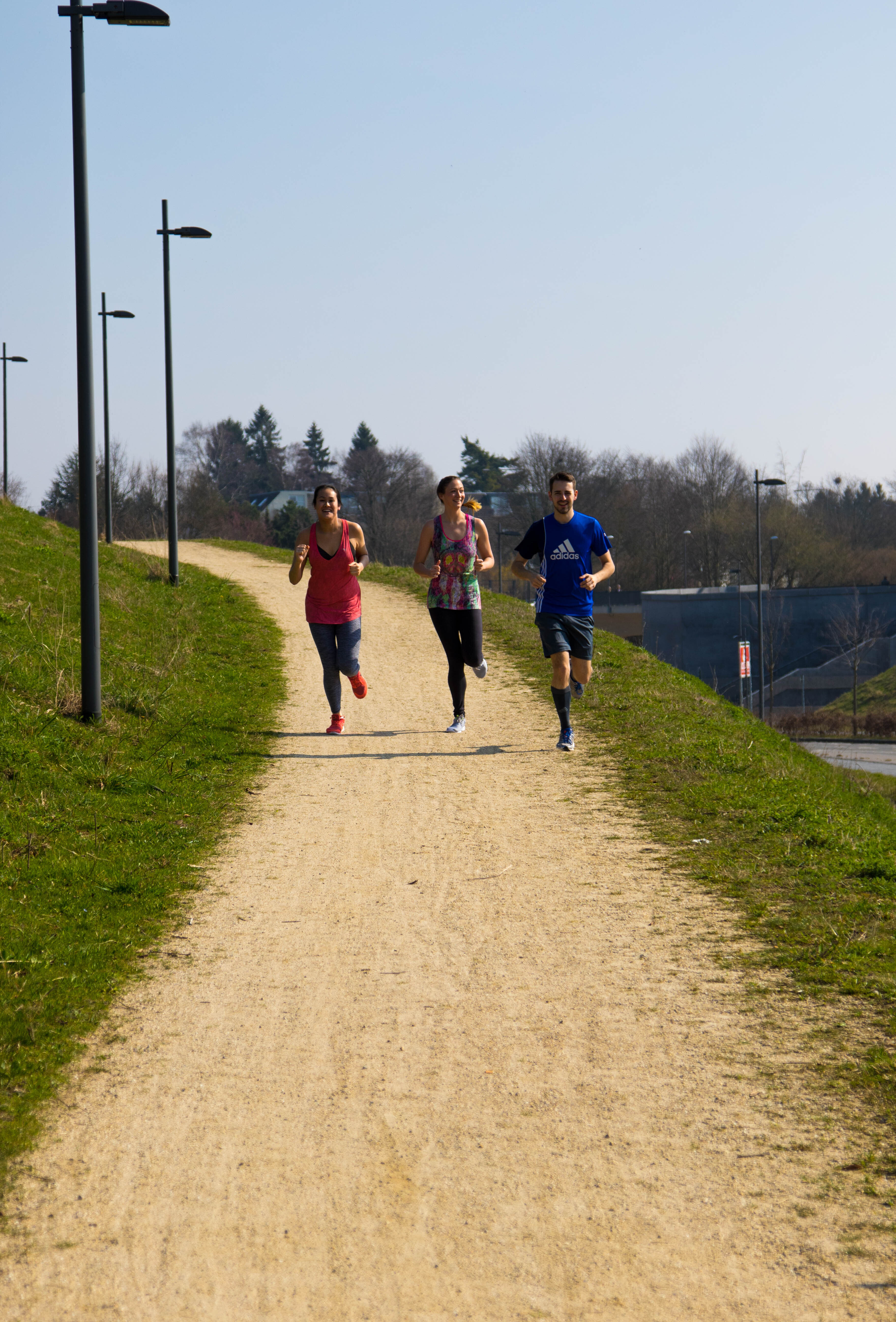 Runners on campus