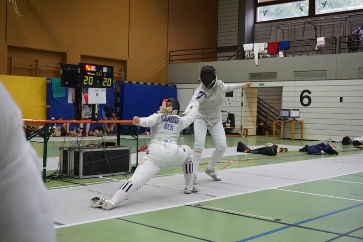 Fencing teams at the DHMM in Karlsruhe